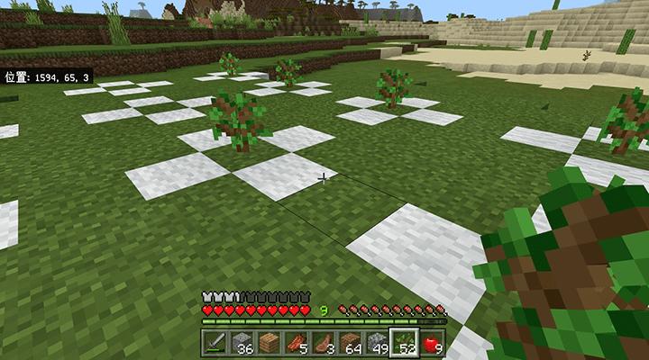 先に苗木を植える