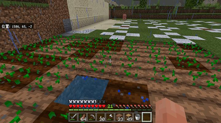 完成した畑