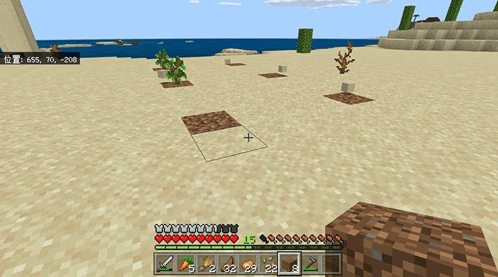 砂漠の村の植林場