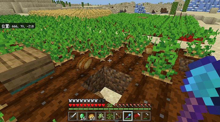 穴のあいてしまった耕地
